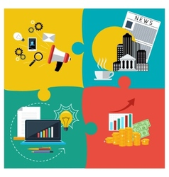 Business services support and news vector