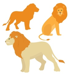 Cartoon lions set vector image vector image