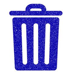 dustbin icon grunge watermark vector image