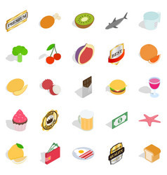 greengrocery icons set isometric style vector image vector image