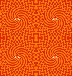 Hypnotic pattern orange vector