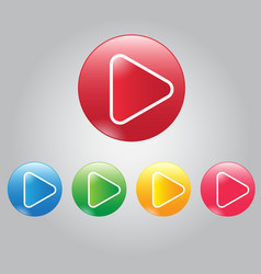 modern button video play and audio vector image vector image