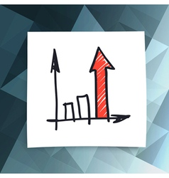 red success arrow abstract business vector image vector image