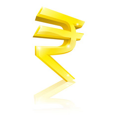 rupee currency sign vector image