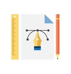graphic design icon vector image vector image