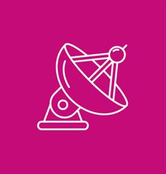 Satellite antenna icon vector