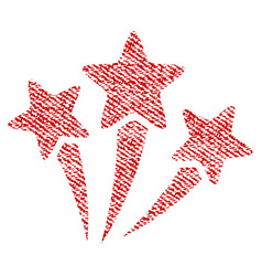 star fireworks fabric textured icon vector image