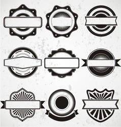 Vintage Badge Labels Template vector image