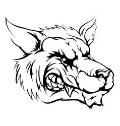 wolf mascot character vector image
