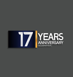 17 years anniversary logotype with blue vector