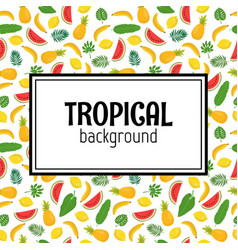 abstract background with tropical leaves and vector image