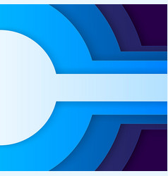 Abstract blue paper circles vector image