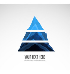 Abstract compositiion with triangle hand drawn vector