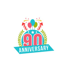 anniversary ninety years number vector image