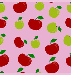 apple pattern seamless color vector image