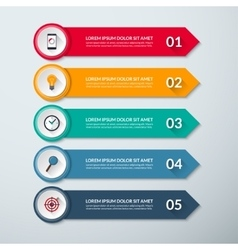 Arrow infographic template with 5 options vector image