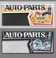 Banners for auto parts store vector