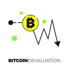 bitcoin exhange graph vector image