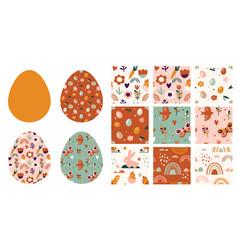 boho easter concept design seamless patterns vector image