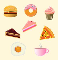 breakfast food and beverage vector image