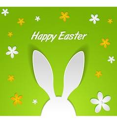 bunny ears Easter card vector image