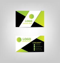business card modern design template vector image