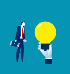 business man idea concept business funding vector image