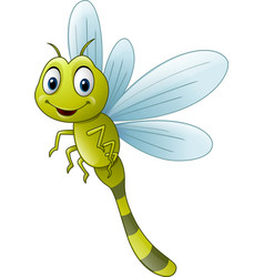cartoon dragonfly vector image