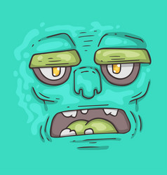 Cartoon monster face halloween vector
