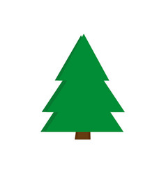 christmas trees icon green simple design vector image