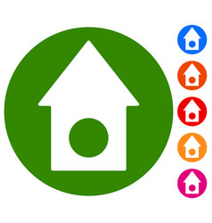 classic house icon with 6 color background real vector image