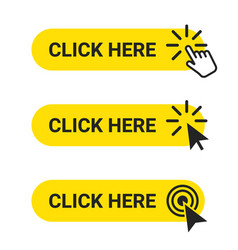 click here set web buttons with action vector image