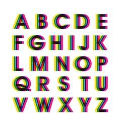 Colorful alphabet set vector
