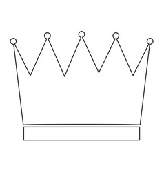 Crown the black color icon vector