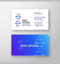 dna spiral abstract sign or logo and vector image
