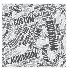 Do You Need To Order A Custom Aquarium text vector