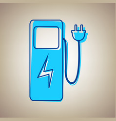electric car charging station sign sky vector image