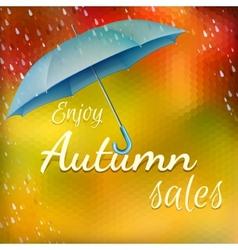 Enjoy autumn sales EPS 10 vector image