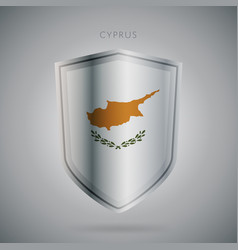 europe flags series cyprus modern icon vector image