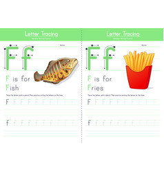 F for fish and f for fries vector