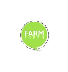 farm fresh banner vector image
