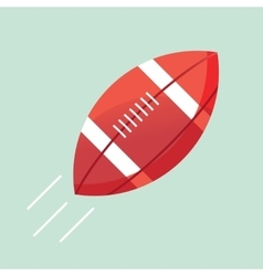 flat icon of a american football vector image