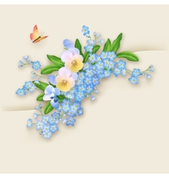 Flowers Forget-me-not Greeting Card vector