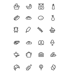 Food Outline Icons 6 vector