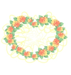 Frame from abstract roses vector image