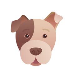 Funny dog head icon in cartoon style vector