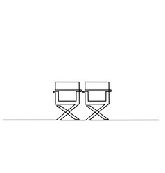 furniture chair icon on white background vector image