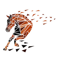 Galloping horse particles vector