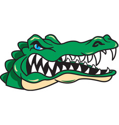 Gator head logo mascot vector