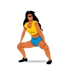 girl dancing twerk cartoon vector image